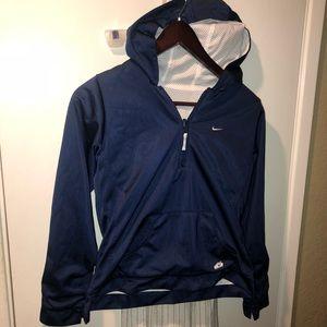 Navy Blue Nike quarter zip Hoodie